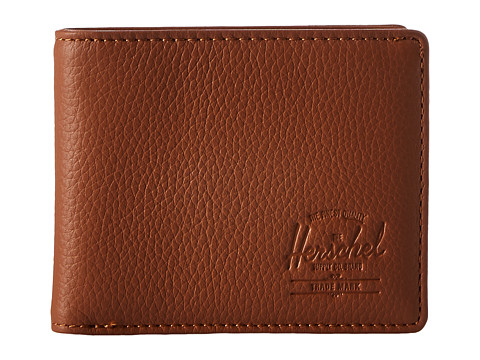 Herschel Supply Co. Hank Leather RFID - Tan Pebbled Leather