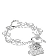 GUESS - Logo Heart Toggle Line Bracelet