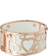 GUESS - Wide Bangle with Hearts Overlay
