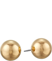 Kenneth Jay Lane - 10mm Polished Gold Ball Post Ear Earrings