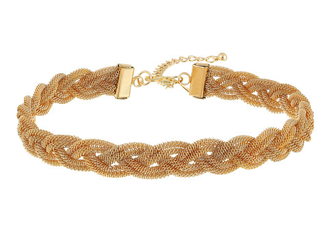 Kenneth Jay Lane Gold Mesh Interwoven Necklace - Gold