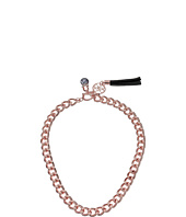GUESS - Chunky Chain with Front Toggle Close with Pearl and Tassel Necklace