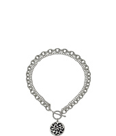 GUESS - Duo Chain Toggle Front Necklace with Logo Disc