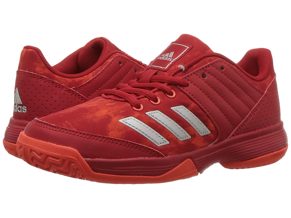 adidas Kids Ligra 5 Volleyball (Little Kid/Big Kid) (Scarlet/Energy/White) Kids Shoes