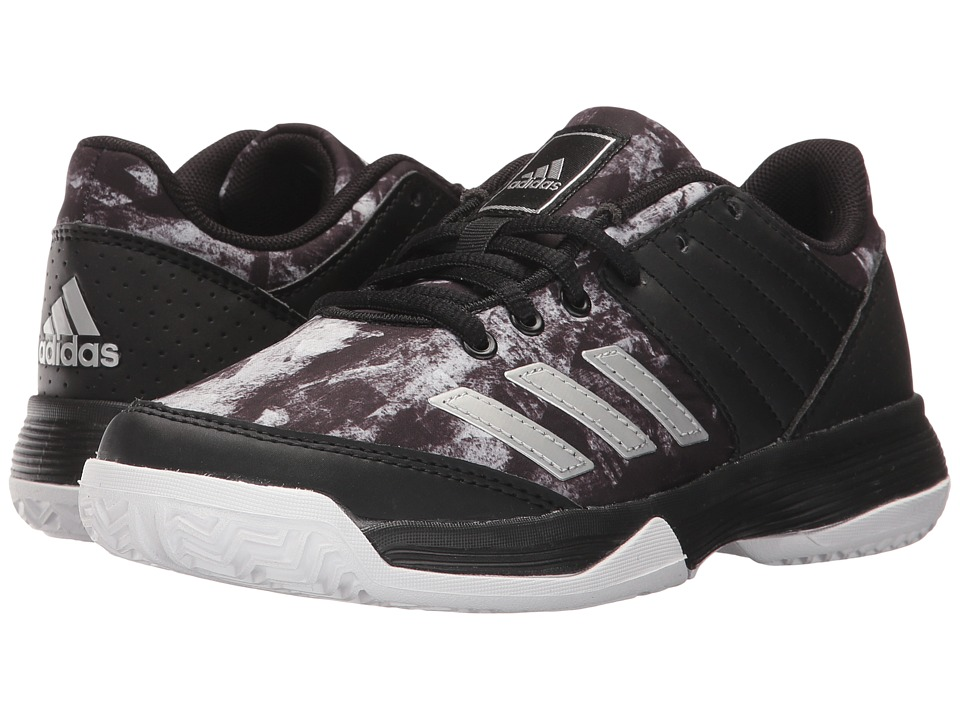 adidas Kids Ligra 5 Volleyball (Little Kid/Big Kid) (Black/White/Black) Kids Shoes