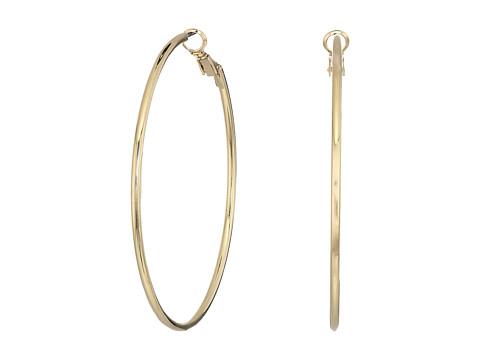 Kenneth Jay Lane Small Gold Hoop Post Ear Earrings - Gold