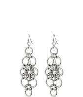 GUESS - Linked Rings Wire Drop Earrings