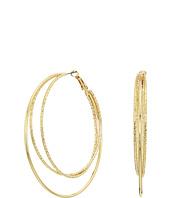 GUESS - Triple Wire Clutchless Hoop Earrings