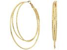 GUESS Triple Wire Clutchless Hoop Earrings