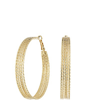 GUESS - Multi Wire Textured Clutchless Hoop Earrings