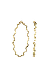 GUESS - Zigzag Clutchless Hoop Earrings