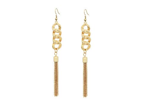 GUESS Chain Drop with Tassel Earrings