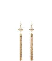 GUESS - Pearl with Tassle Wire Drop Earrings