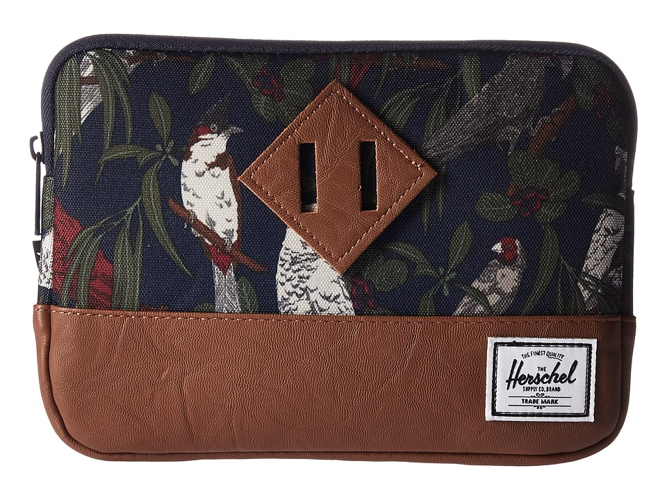 Herschel Supply Co. Heritage Sleeve For iPad Mini (Peacoat Parlour/Tan Synthetic Leather) Computer Bags