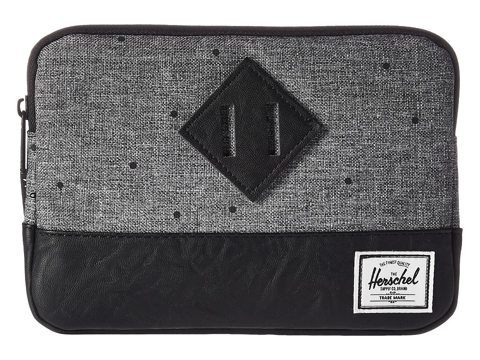 Herschel Supply Co. Heritage Sleeve For iPad Mini (Scattered Raven Crosshatch/Black Synthetic Leather) Computer Bags