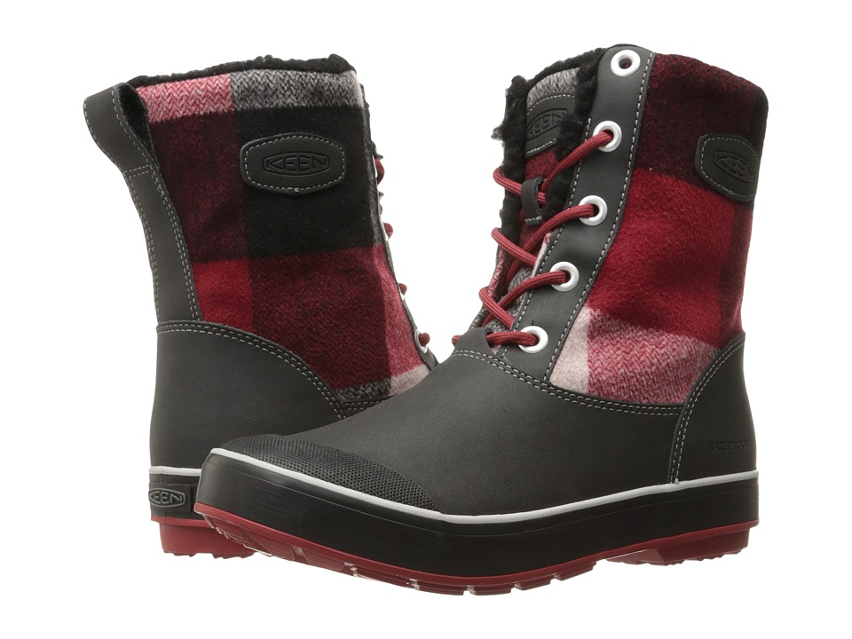 Keen Elsa Boot WP (Black/Red Dahlia) Women