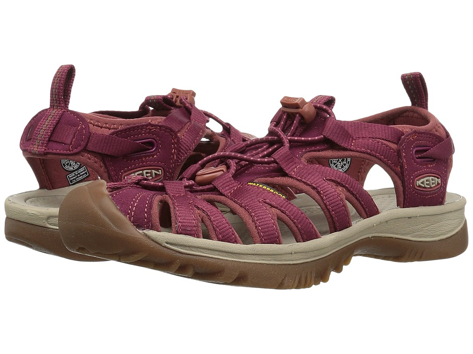 Keen Whisper (Rhododendron/Marsala) Sandals