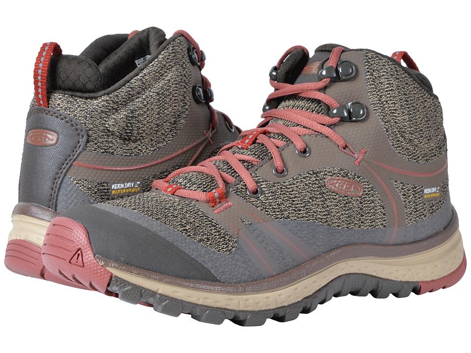 Keen Terradora Mid Waterproof (Canteen/Marsala) Women's Shoes