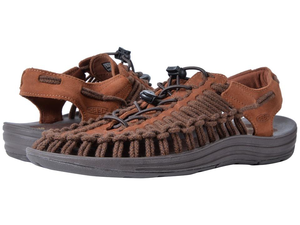 Keen - Uneek Leather (Tortoise Shell/Mulch SC) Mens Shoes