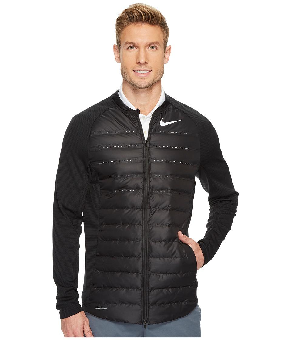 Nike Golf - AeroLoft HyperAdapt Jacket (Black/Black/Reflective Silver) Men's Coat