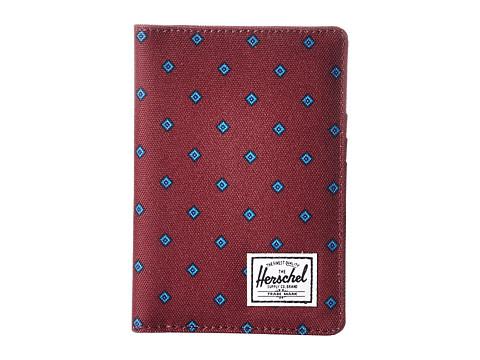 Herschel Supply Co. Raynor Passport Holder RFID - University Windsor Wine/Peacoat