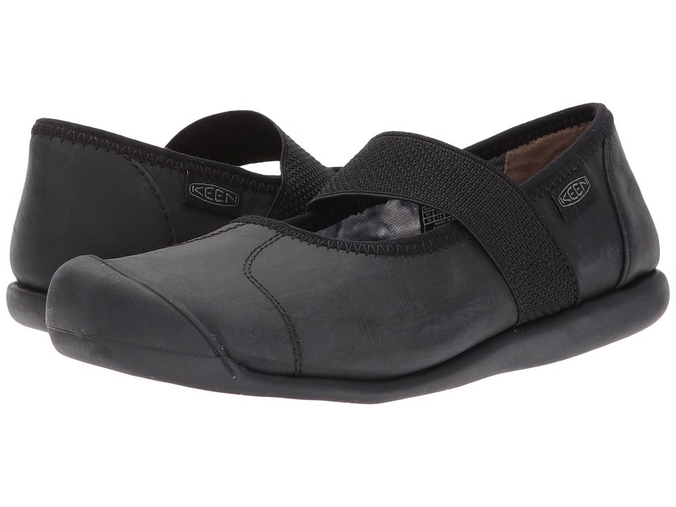 Keen - Sienna MJ Leather (Monochrome Black) Women's Maryjane Shoes