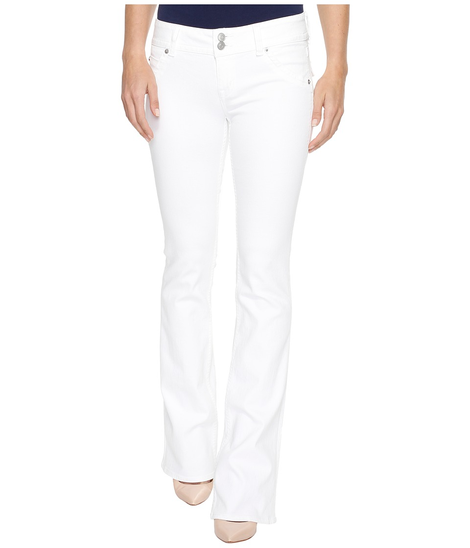 Hudson Signature Bootcut Flap Pocket Jeans in White (White) Women