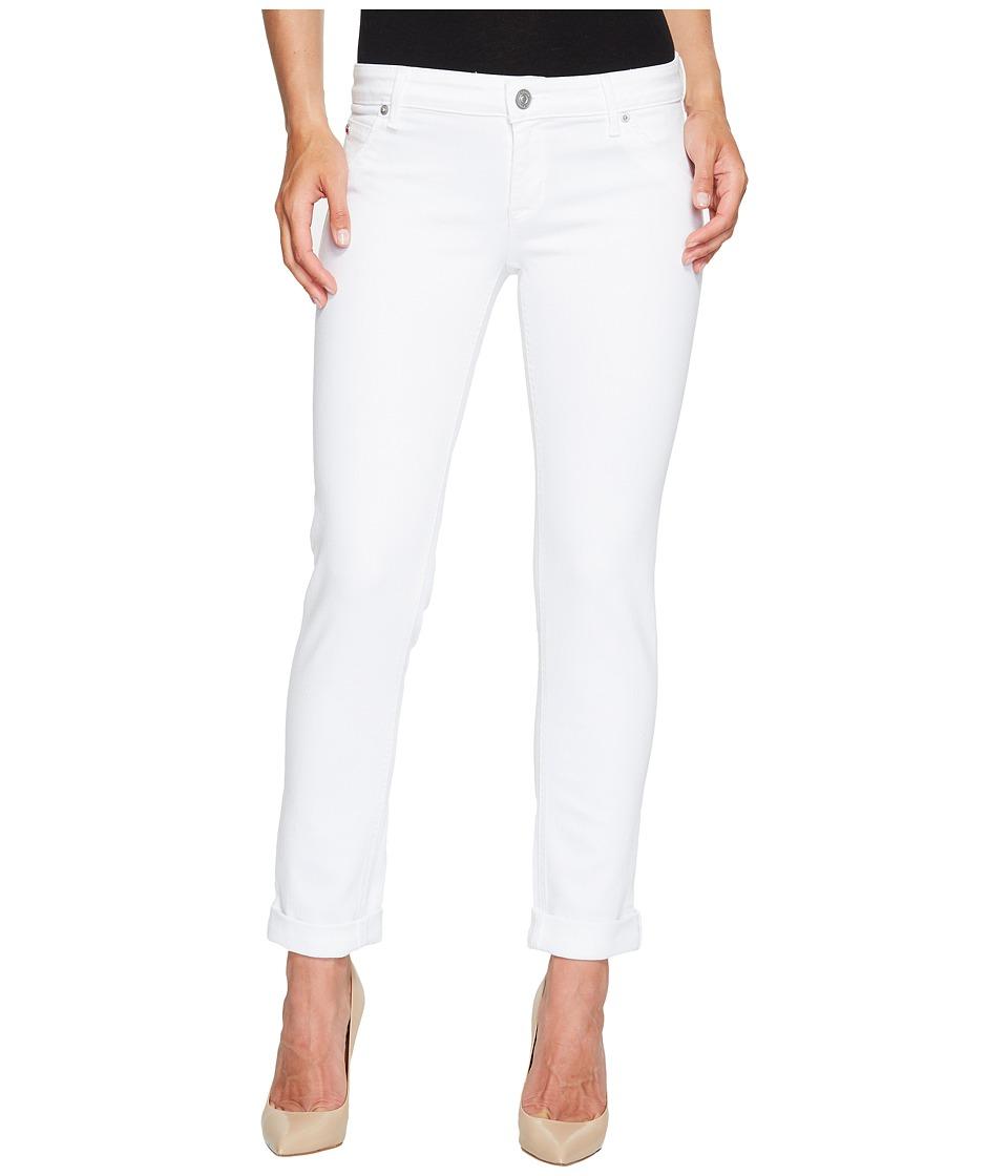 Hudson Jax Boyfriend Skinny Flap Pocket Jeans in White (White) Women