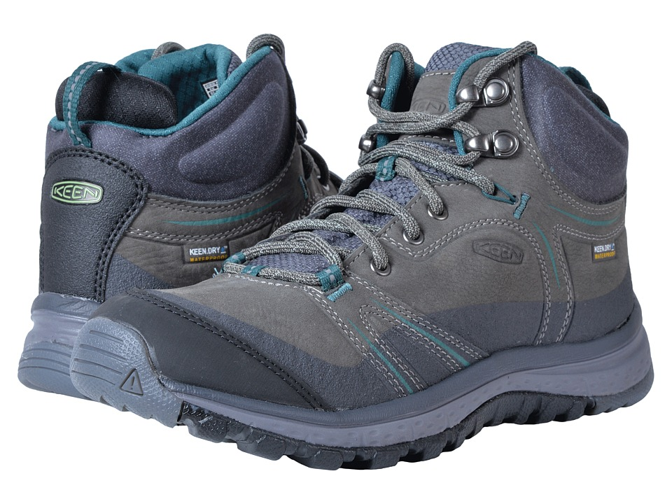 Keen Terradora Leather Mid Waterproof (Mushroom/Magnet) Women's Waterproof Boots