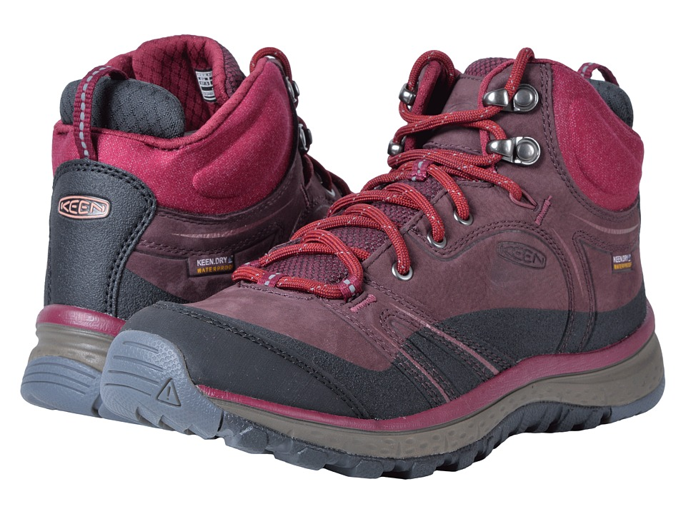 Keen Terradora Leather Mid Waterproof (Wine/Rododendron) Women