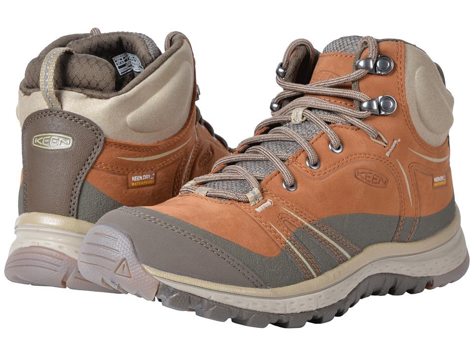 Keen Terradora Leather Mid Waterproof (Timber/Cornstalk) Women's Waterproof Boots