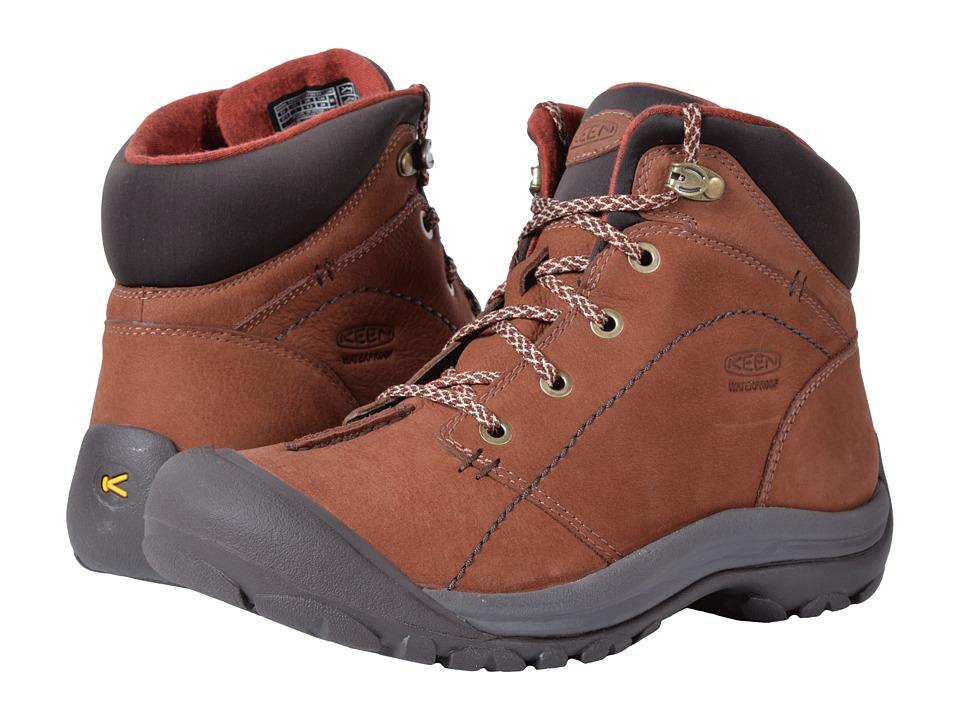 Keen Kaci Winter Mid Waterproof (Tortoise Shell/Marsala) Women's Waterproof Boots