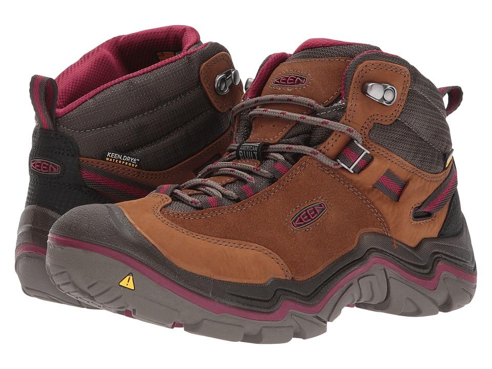 Keen Laurel Mid Waterproof (Monks Robe/Rhododendron) Women's Waterproof Boots