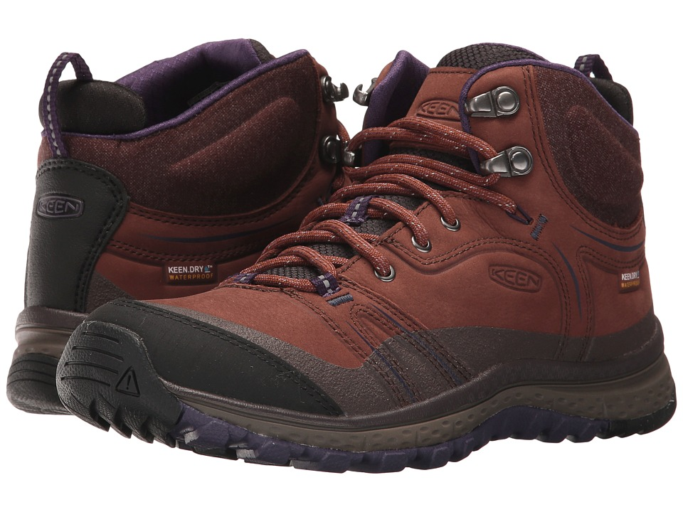 Keen Terradora Leather Mid Waterproof (Scotch/Mulch) Women's Waterproof Boots
