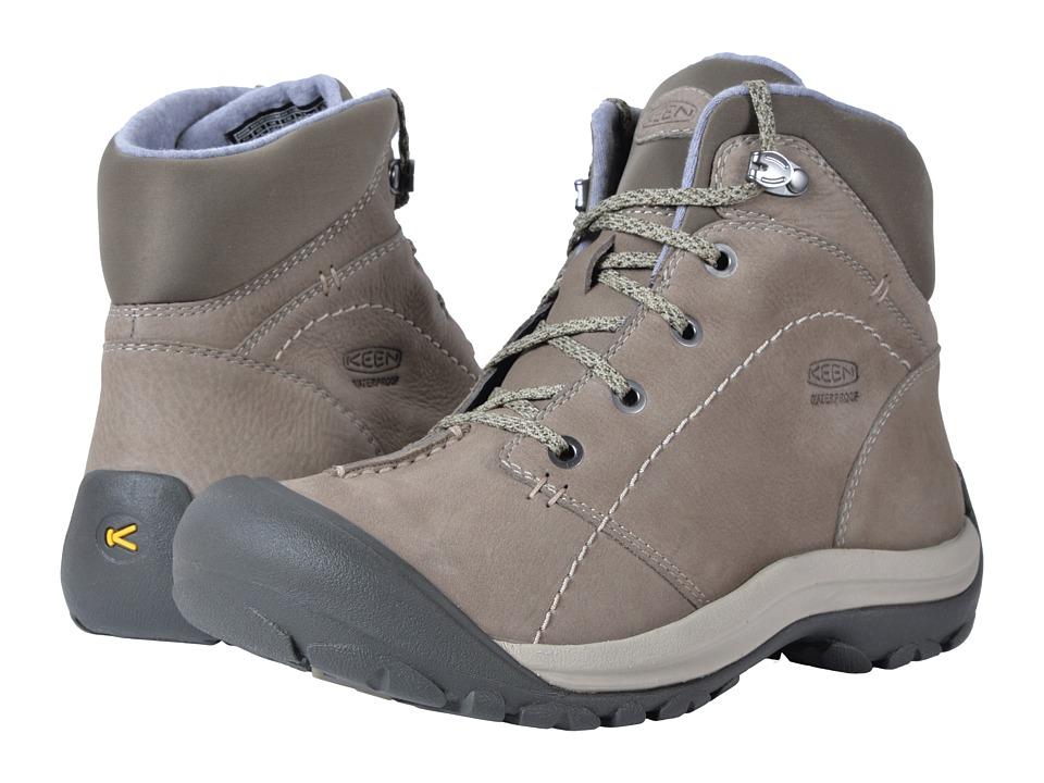 Keen Kaci Winter Mid Waterproof (Brindle/Inca Gold) Women's Waterproof Boots