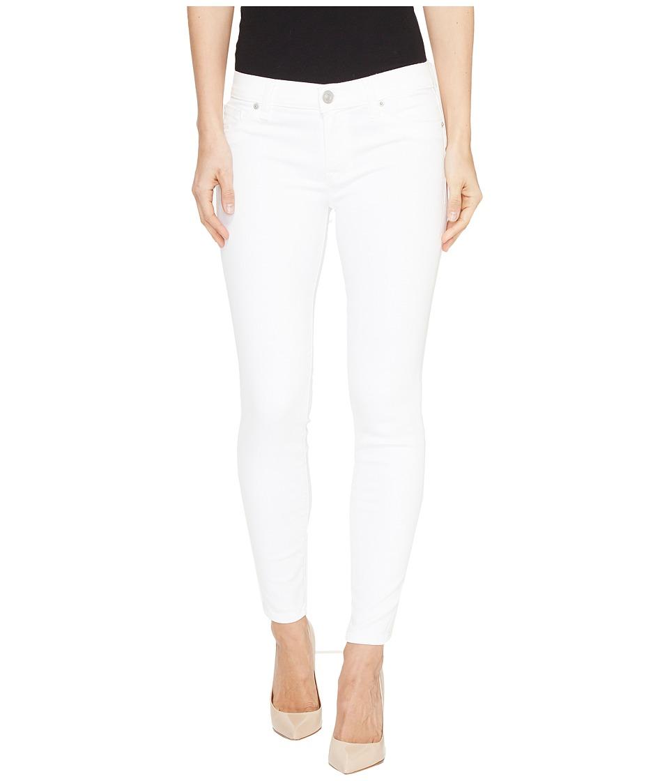 Hudson Krista Super Skinny Crop Five-Pocket Jeans in White (White) Women