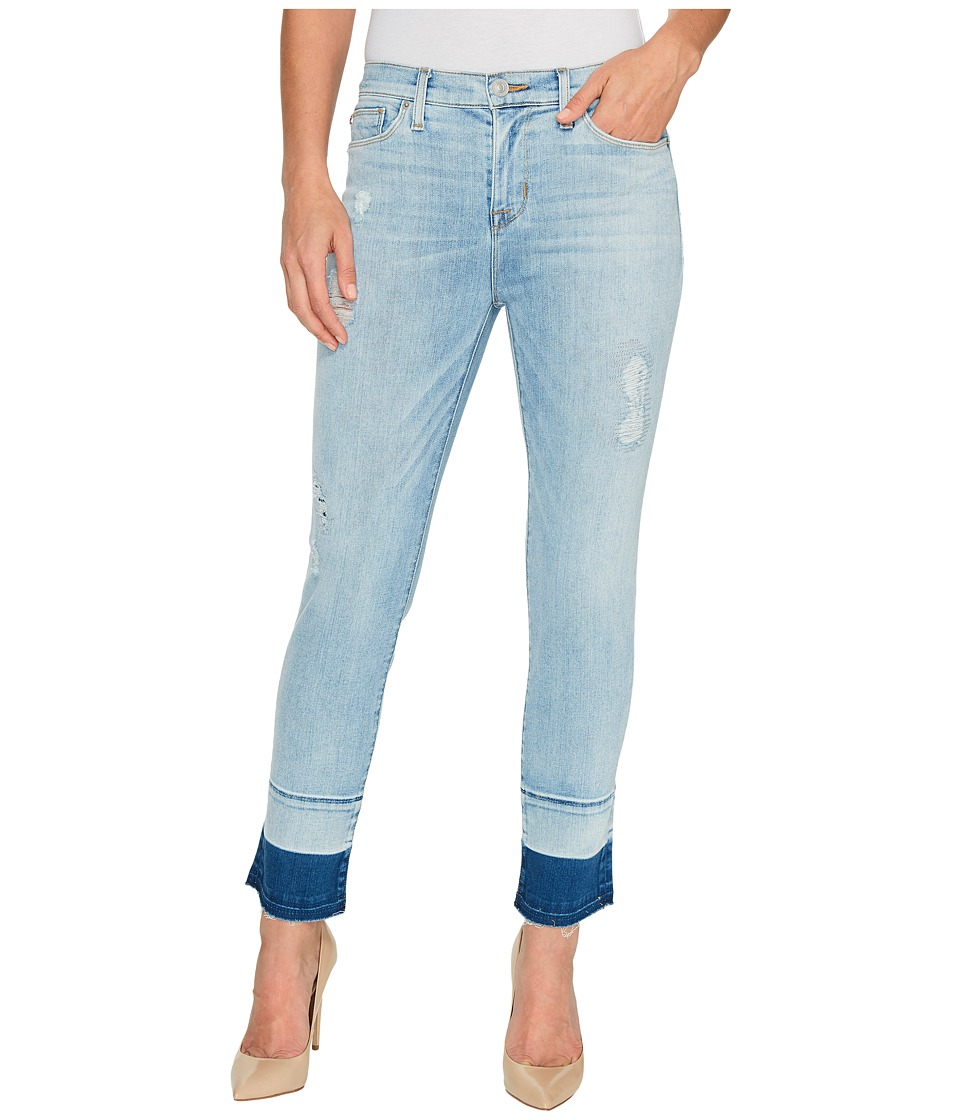 Hudson Zooey Mid-Rise Crop Straight with Released Hem Five-Pocket Jeans in Side Hussel (Side Hussel) Women