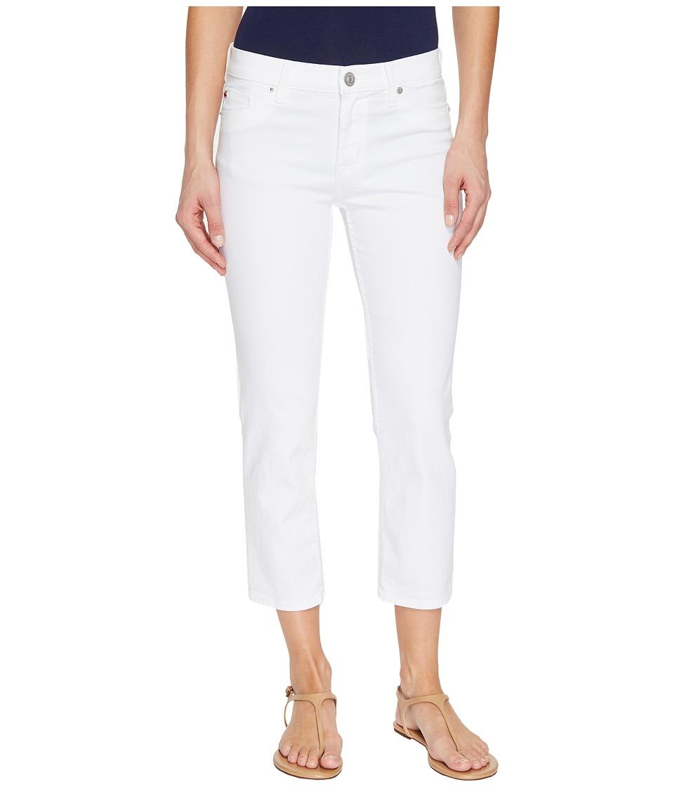 Hudson Fallon Crop in White (White) Women