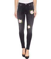 Hudson - Nico Mid-Rise Ankle Super Skinny Five-Pocket Jeans with Rose Applique in Confronted