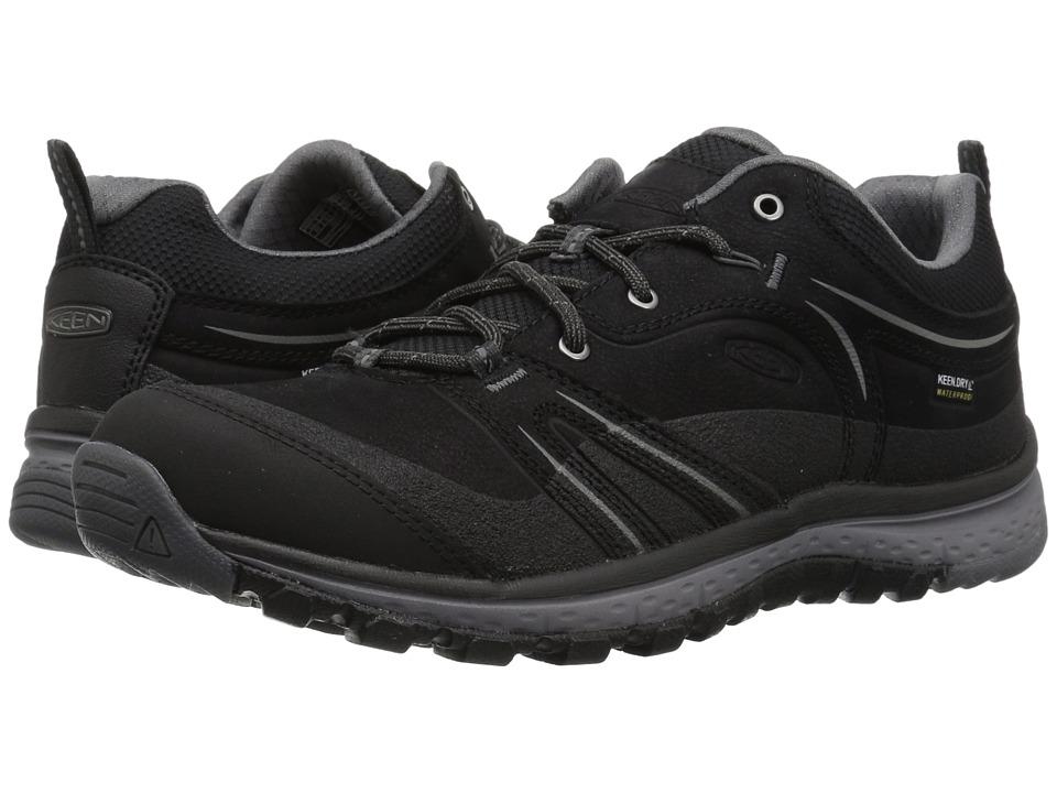 Keen Terradora Leather Waterproof (Black/Steel Grey) Women's Waterproof Boots