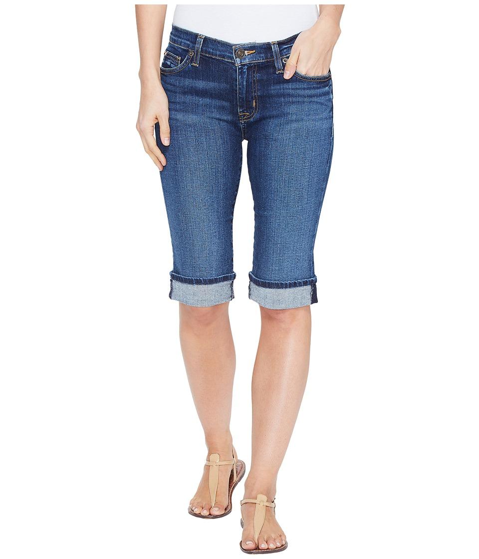 Hudson - Amelia Cuffed Knee Five-Pocket Shorts in Blue Moon (Blue Moon) Womens Shorts