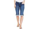 Amelia Cuffed Knee Five-Pocket Shorts in Blue Moon