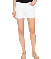 Hudson - Asha Mid-Rise Cuffed Five-Pocket Shorts in White
