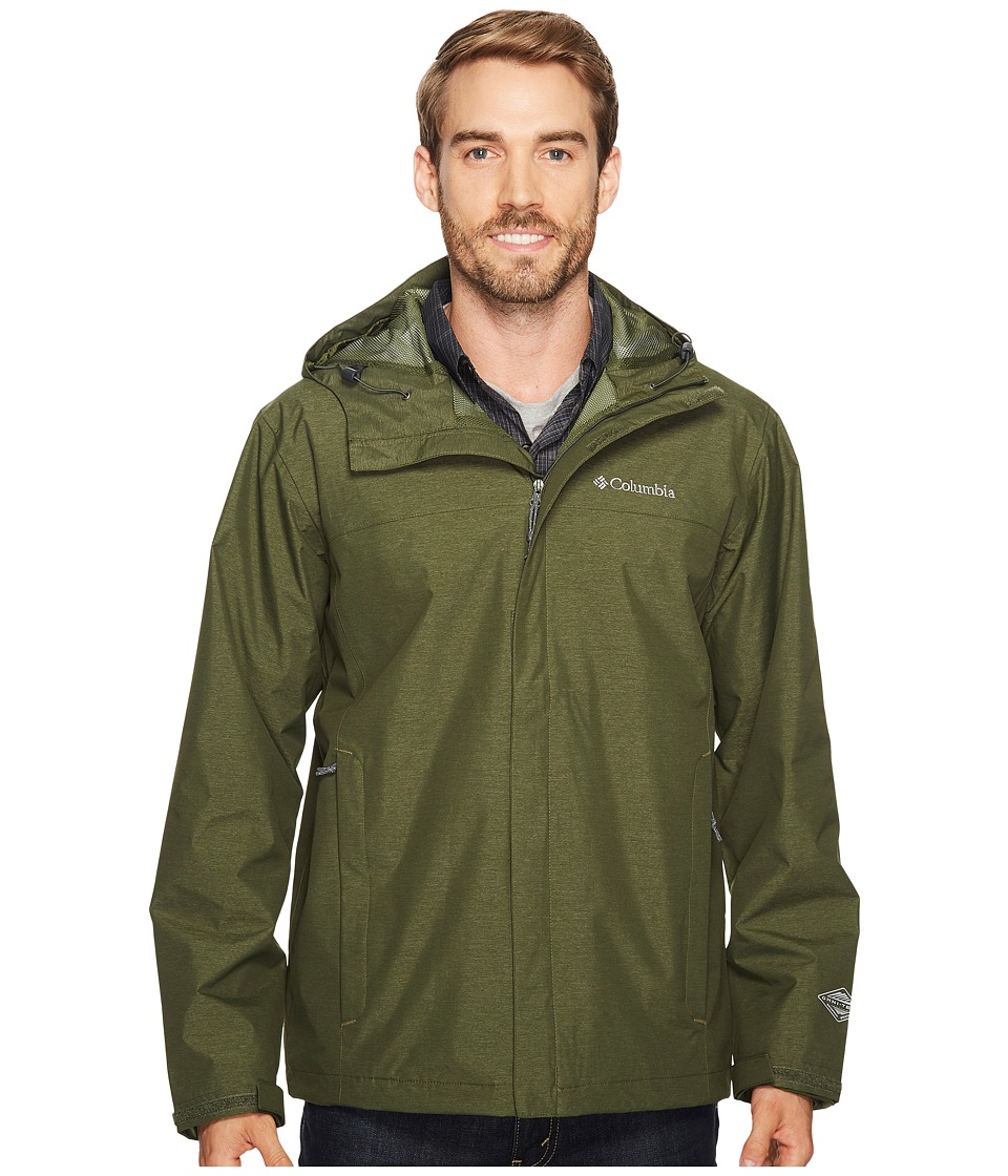 Columbia Diablo Creek Rain Jacket (Surplus Green) Men
