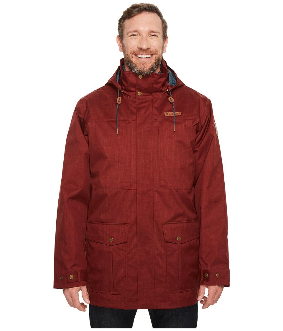 Columbia Big Tall Horizons Pine Interchange Jacket (Deep Rust/Mystery) Men