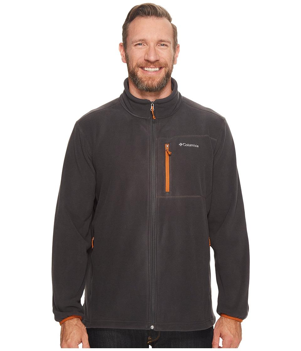 Columbia Big Tall Cascades Explorertm Full Zip Fleece (Shark/Bright Copper) Men