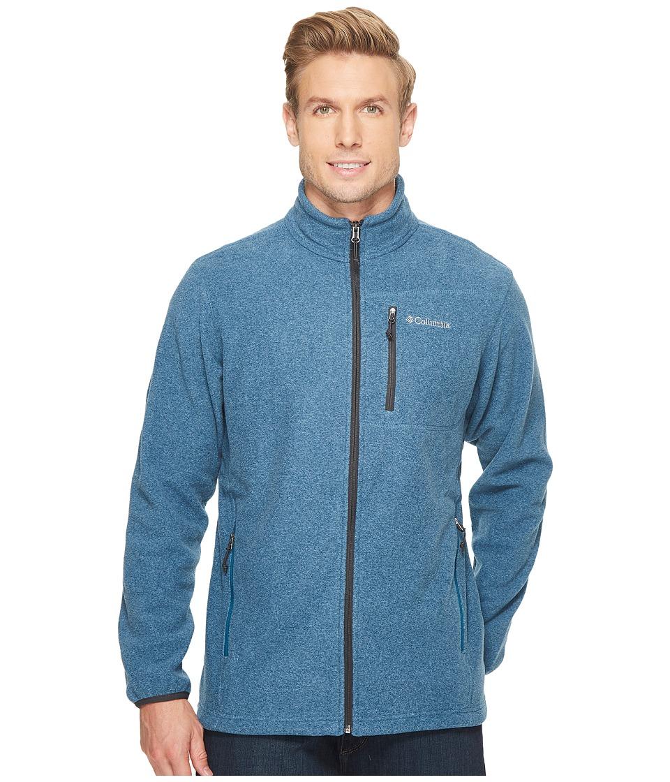 Columbia Cascades Explorertm Full Zip Fleece (Phoenix Blue Heather/Shark) Men