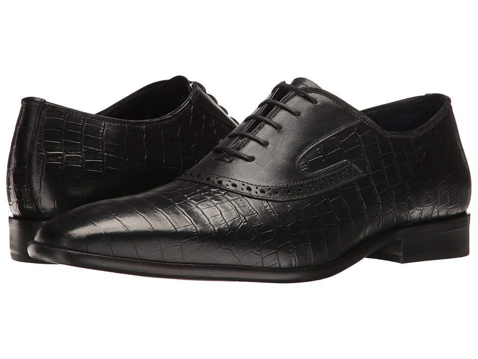 Messico - Nester (Black Croco Leather) Mens Shoes