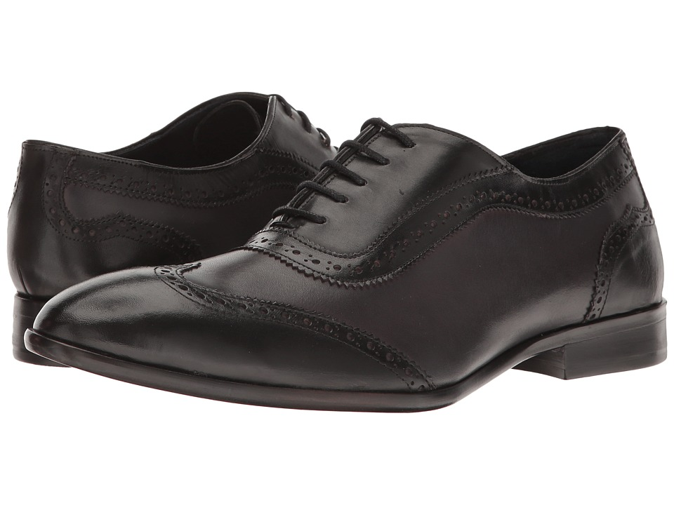 Rockabilly Men's Clothing Messico - Paterno Black PatentBurnished Grey Leather Mens Shoes $129.00 AT vintagedancer.com