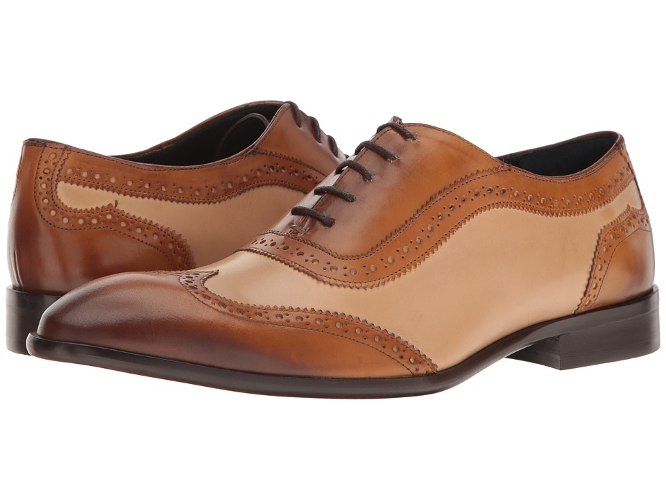 1930s Style Mens Shoes Messico - Paterno HoneyNatural Leather Mens Shoes $90.99 AT vintagedancer.com